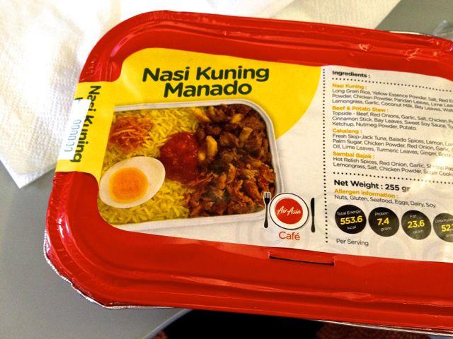 air asia indonesia nasi kuning manado