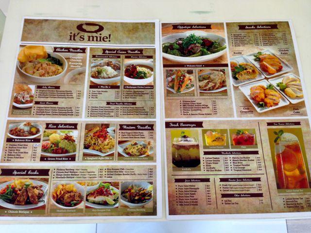 its mie temp menu